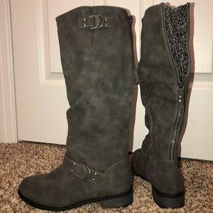 💕 Gray Calf High Boots 💕